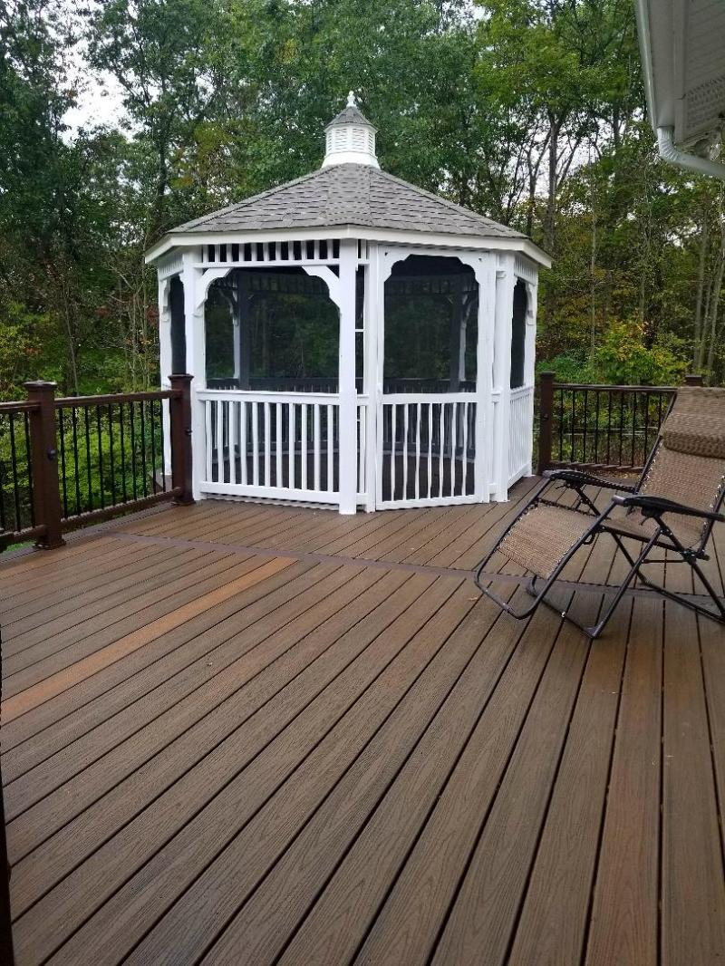 deck accent lighting. A Simple 12ft.x14ft. Deck W/ Partial Railing And Bench Fit This Home Just Right. Accent Lighting Make Glow At Night.